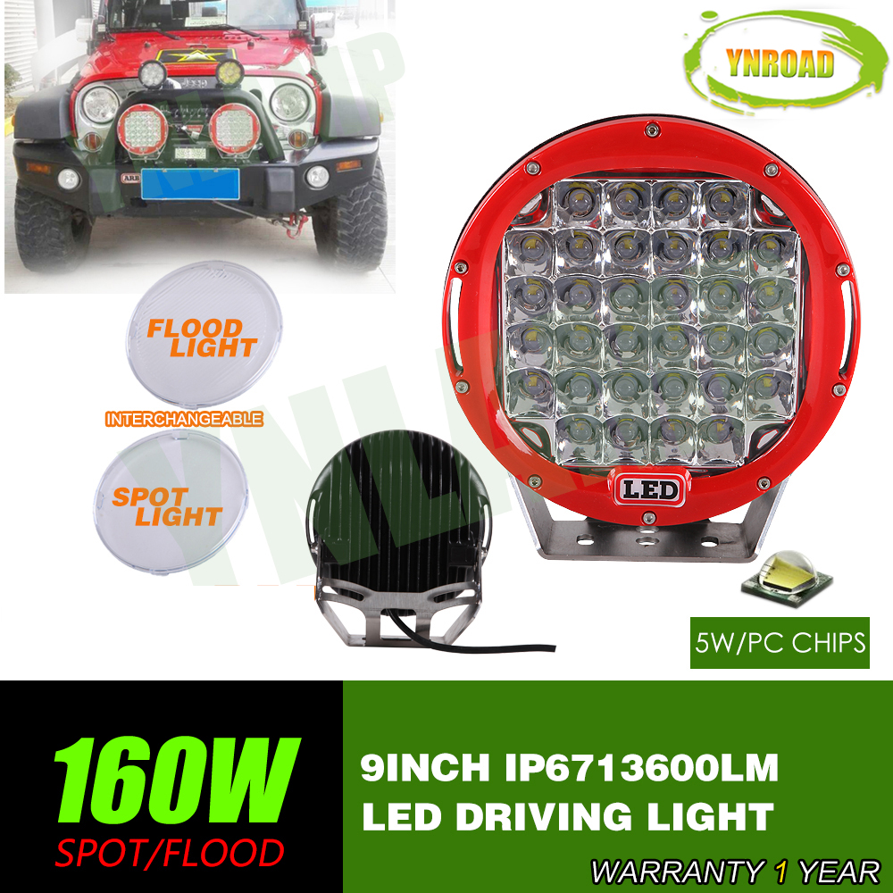 czg 51wr 4x4 7 inch round 51w led work light led driving light 7 led auto lamp led off road light for jeep truck suv atv utv YNROAD 160w 9inch Red round  led driving light ,led off road light led work light for SUV,ATV,UTV use 14400LM