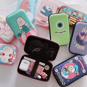 Mini Portable Earphone bag Coin Purse Headphone USB Cable Case Storage Box Wallet Carrying Pouch Bag Earphone Accessory