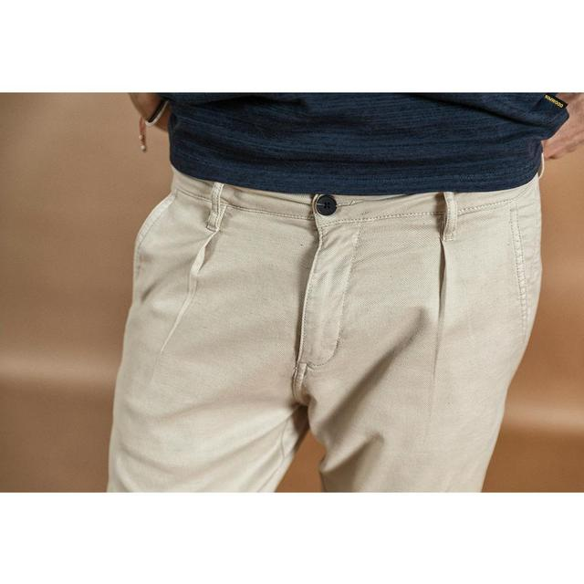 SIMWOOD 2020 spring new ankle-length pants men cotton linen casual trousers plus size high quality brand clothing  190359 5