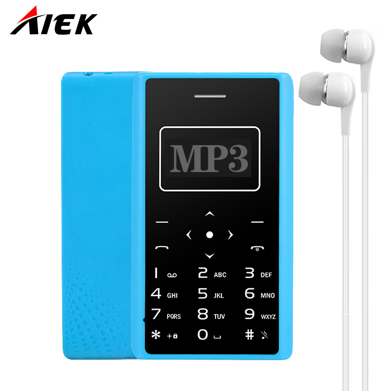 Ultra Thin Card Mobile Phone 4 8mm AIEK AEKU X7 Low Radiation mini pocket students personality