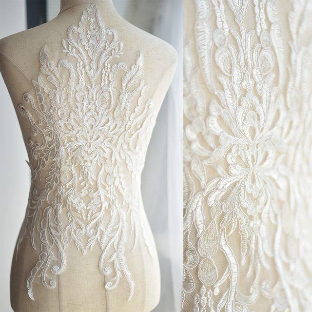Aliexpress.com : Buy French Lace Fabric Ivory White