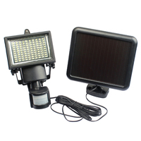 100 LED Solar Powered Wall Lamp PIR Body Motion Sensor Security Light Home Garden Lamp Outdoor