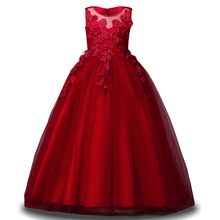 Flower Girls Party Dress Girls Princess Dress Children Wedding Party Dress Teenage Girl Clothing for 4 6 8 9 10 12 14 Year