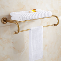 Bathroom Shelves Brass Towel Rack Antique Towel Shelf Wall Mounted Towel Holder Towel Hanger Bathroom Accessories