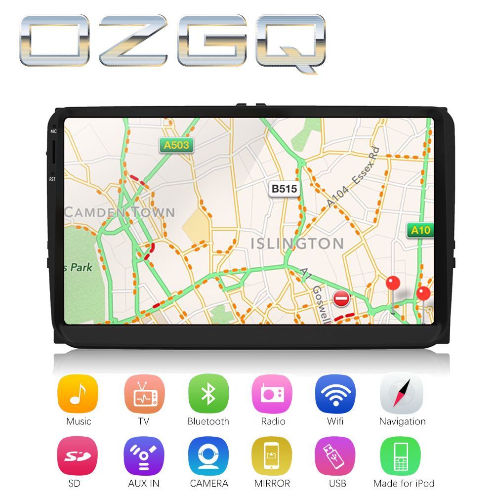 OZGQ Android 7.1 Car Player For VolksWagen VW Jetta 2005~2011 HD Screen Auto GPS Navigation BT Radio TV Audio Video Music Stereo