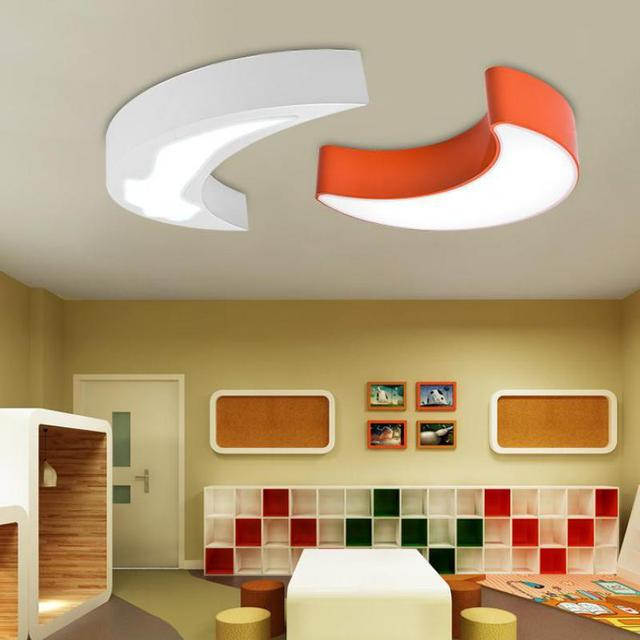 Kindergarten 1 pcs led Panel Light Children orange led moon porch Lamps Bedroom Balcony led Ceiling Lights Abajur study lights