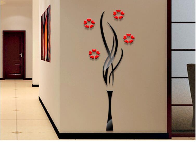 Promotion moderne acrylique mur autocollant chambre TV mur autocollant salon décoration autocollant