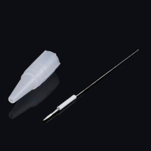 Image 2 - Aguja de tatuaje 3R y 50 Uds. Tapa para Punta de aguja, maquillaje permanente, máquina de pluma de cejas, desechable, Agulhas Dermografo Universal, 50 Uds.