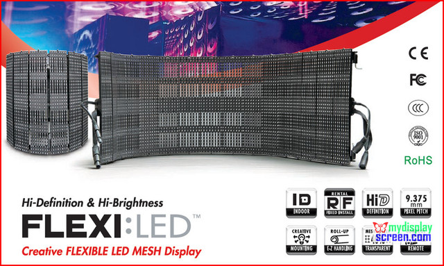 flexible led video display outdoor.indoor rental use, 1280mm * 320mm, SMD 3 in 1 high brightness leds,rental soft bamboo screen