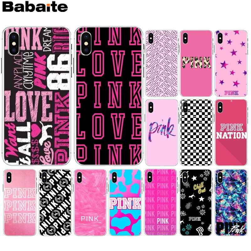 Babaite AMOR ROSA ROSA MUNDO Unique Luxury Tampa Do Telefone de Design para iPhone 6 6S plus 7 7plus 8 8Plus X Xs MAX 5 5S XR