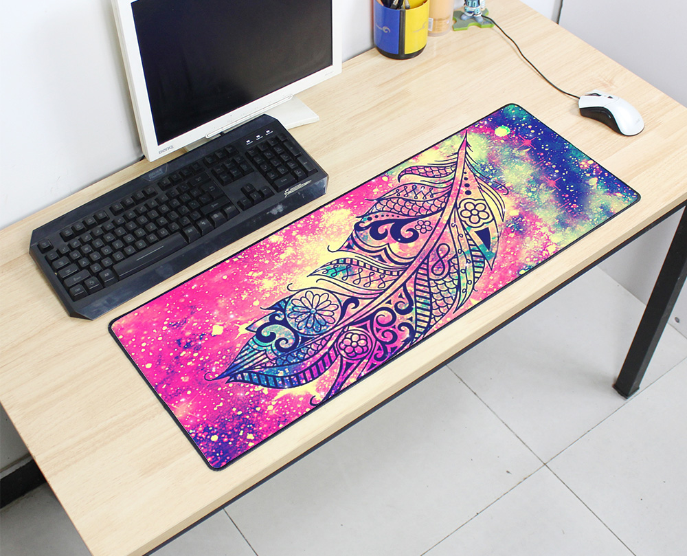 10 x 12 Mouse Pad Motif Natural Collection Pattern Pink Visual Arts Mousepad for Laptop,Desktop Computers Office Supplies Mouse Mat