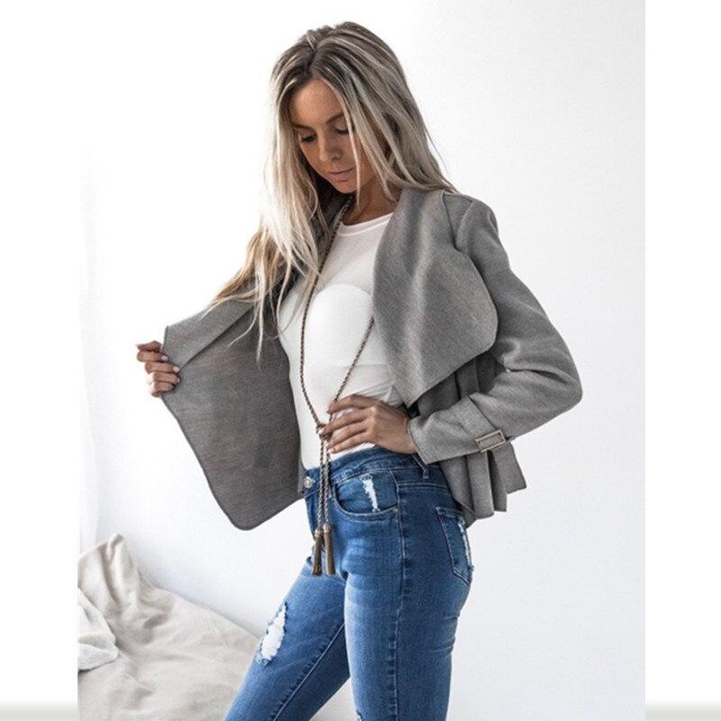 Spring Summer women suede   jacket   short paragraph Lapel woolen Slim   basic     Jacket   coats female   Jackets   New