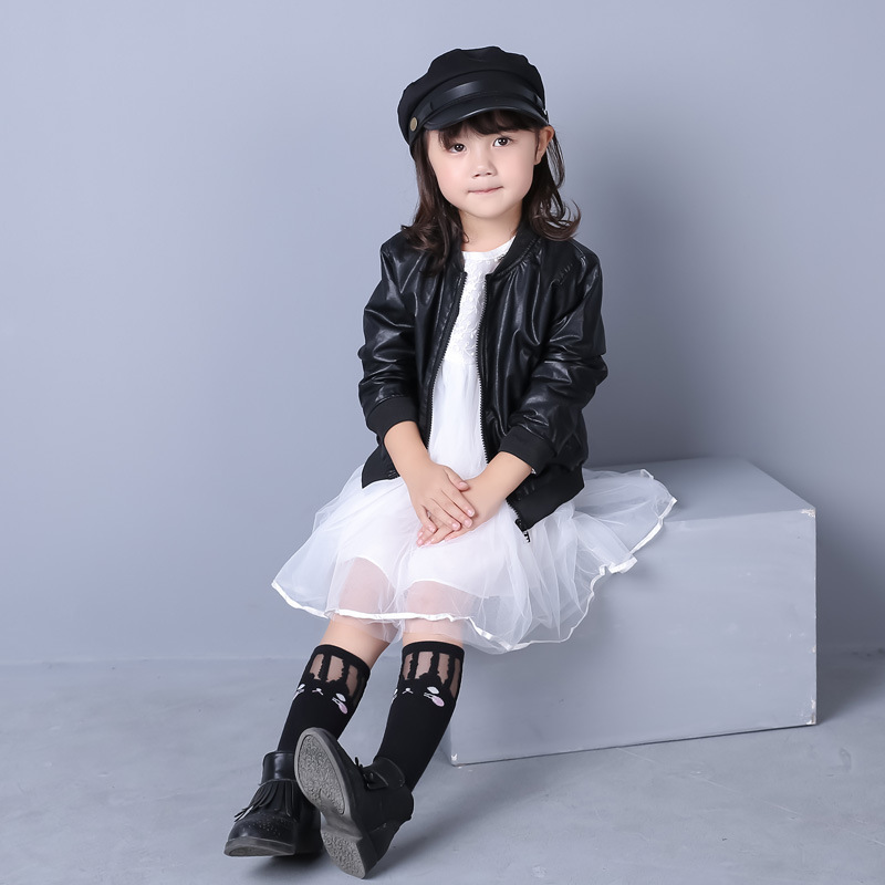 e119995df Hot sale 2016 baby girls leather jacket autumn child toddler girl ...