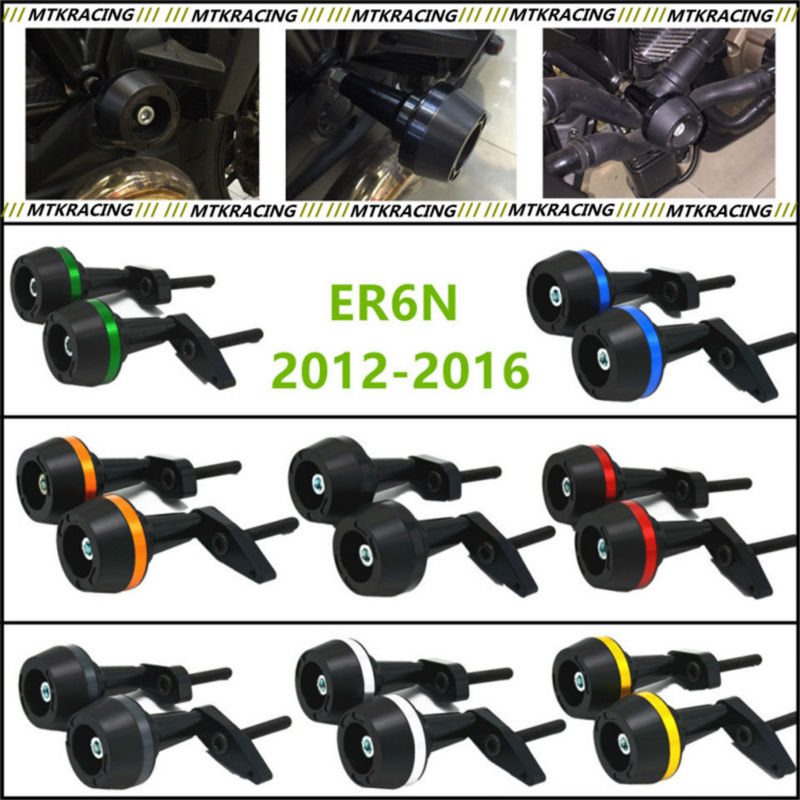 Free delivery New CNC Aluminum Motorcycle Falling Protection Left and Right Frame Sliders Protector For KAWASAKI ER6N 2012-2016