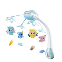 Baby Bed Bell Musical Mobile Crib Bell Dreamful Bed Ring Hanging Rotate Bell Rattle Parent Remote Control Educational Toys