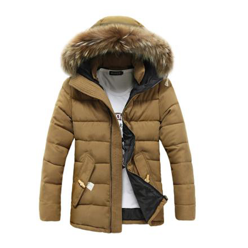 2019 Parka Men Winter New Thickening Jackers Students Hats Hooded Zipper Winter Jackers Mens Casual Fashion Down Cotton Parkas