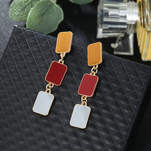 Korean Style Earrings Simple Design Geometric Earrings Drop Earrings For Women Gold Statement Jewelry Sweet Temperament Brinco(China)