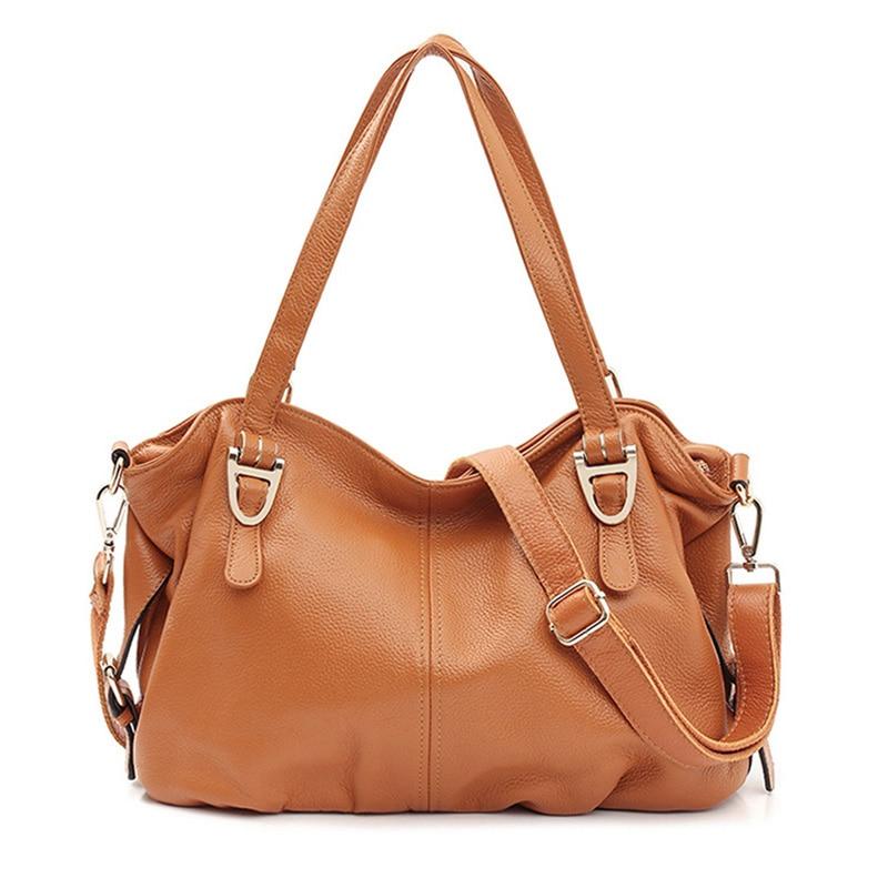 100 Genuine Leather Women Shoulder Bag Luxury Handbag Women Bags Designer Ladies Fashion Messenger Bags Large