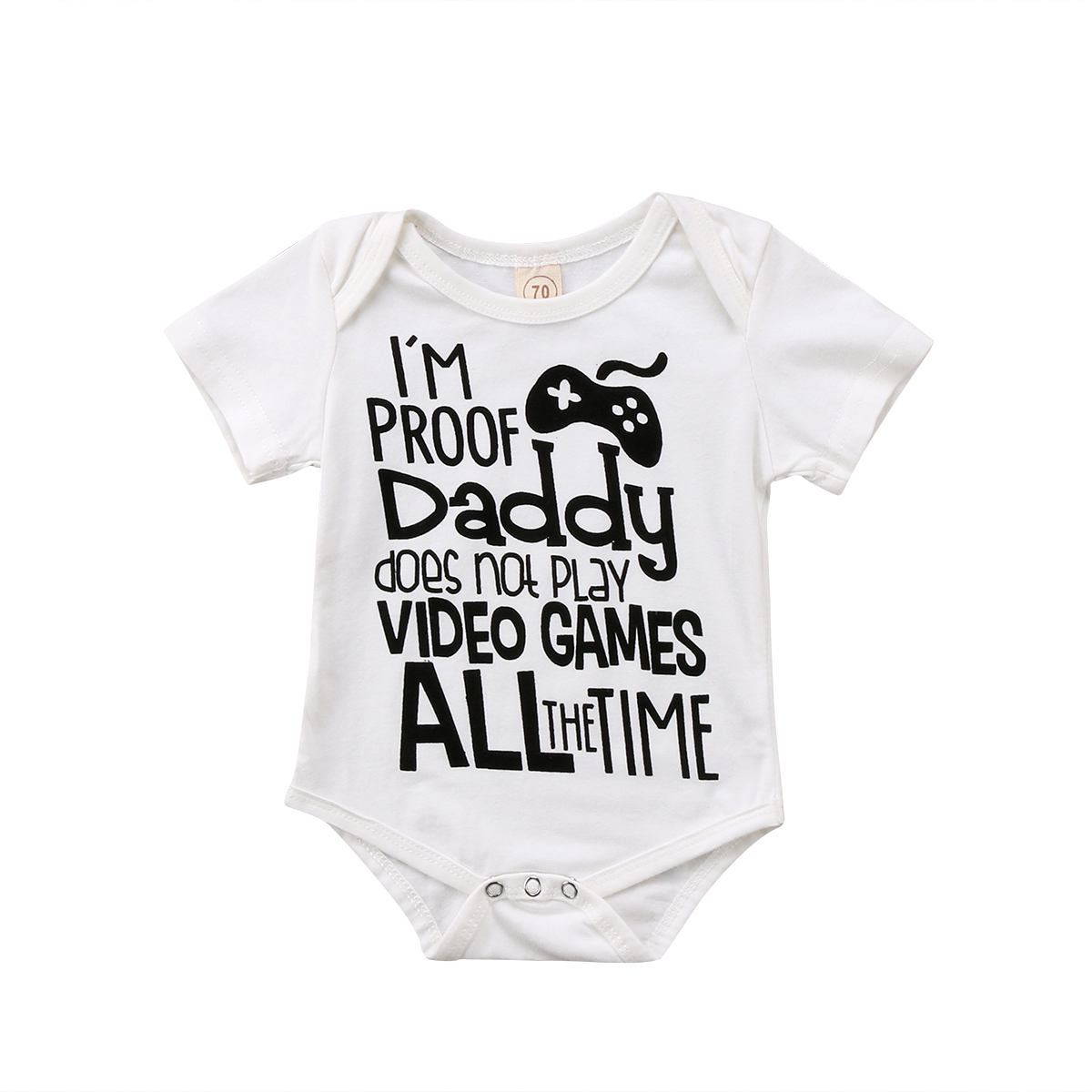 2018 Newborn Infant Baby Boy Girl DAD Joystick Soft   Romper   Clothes