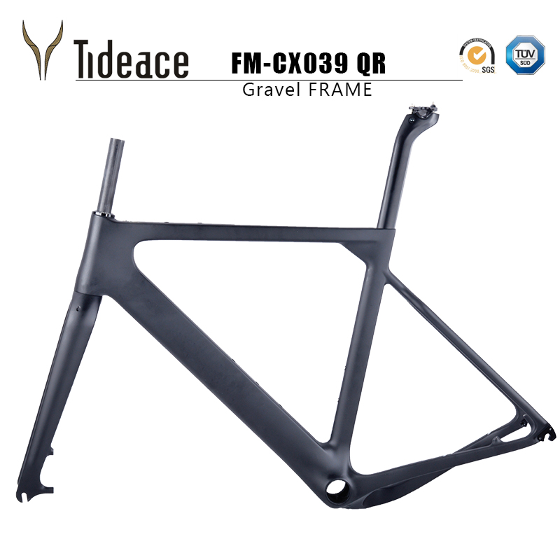2018 NEW arrival Aero Road or MTB Bike Frame S/M/L size Cyclocross Frame Disc Bike Carbon Gravel frame QR or thru axle 2018 tideace full carbon gravel frame 135mm 142mm di2 gravel bicycle frame cyclocross disc bike frame for road or mtb tires