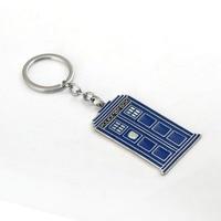 J Store Doctor Who key chain TARDIS sleutelhanger ring Keychain blue metal Key Rings llavero movie Souvenir Jewelry
