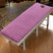 Non-slip Mattress Bed Sheets Flannel Beauty Salon Body Care Dedicated Solid Fitted Sheet Spa Massage Table Sheet With Holes(China)
