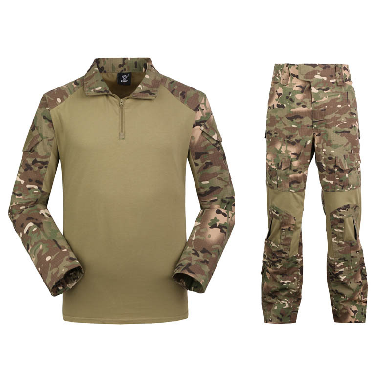 TAD Tactical SoftShell Camouflage Hiking Outdoor Jacket Men Waterproof Softshell Jacket+Pants Hunting Hoodie Military Army Set tad tactical shark skin children softshell jacket kids army clothes acu camouflage military tactical waterproof jackets