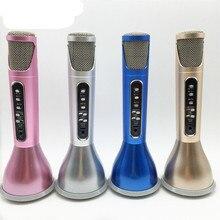 Deuxième Génération K068i Sans Fil Microphone Super Mini Lumière microfone avec Mic Haut-Parleur Condensateur Karaoke Lecteur KTV Chant