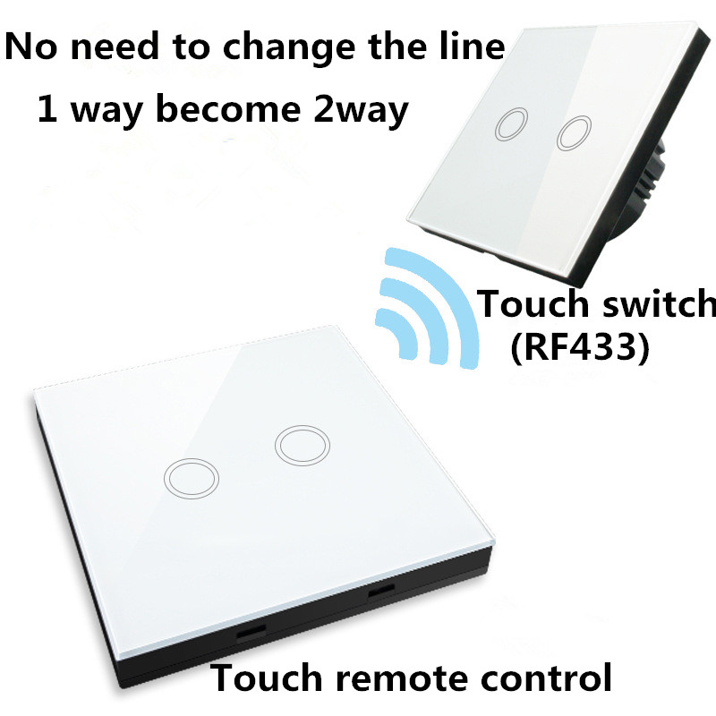 EU/UK Standard 1/2/3 gang 2 way Remote Control Switch,White Glass Panel Lamp Switch 220V Wall Light Touch Switch eu uk standard 1 2 3 gang 2 way remote control light switch glass panel lamp switch for rf smart home touch wall light switch