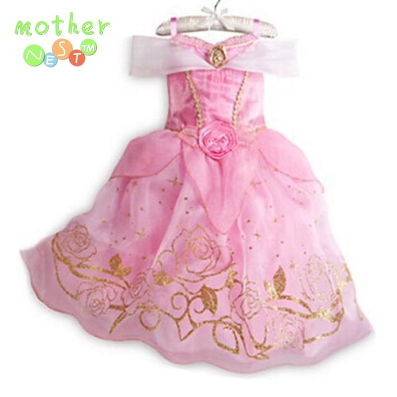 3-10 yrs New Summer girls dress Elsa Anna Children Baby Kids Cosplay Dress Costume Princess Perform Clothes Infantil Vestido