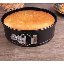 8 pulgadas antiadherente Para Hornear Redonda De Acero Al Carbono Springform Cake Pan, Pastel Chiffon molde Molde Desmontable de Acero Al Carbono