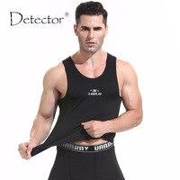 Detector bieganie sportowe męskie kamizelki bez rękawów zbiornika centrum oddychająca szybkie suche kompresji rajstopy stretch topy