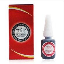 Navina 10 pçs/lote novo pacote original profissional 10g cola de cílios caixa vermelha macromolécula adesivo cola de cílios nenhum odor