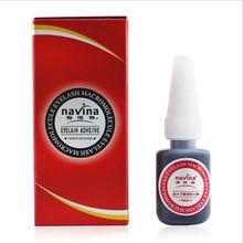 Navina 10 pcs/lot NOUVELLE Emballage Dorigine Professionnelle 10g Cils Colle Rouge Box Macromolécule Adhésif Cils Colle Aucune odeur