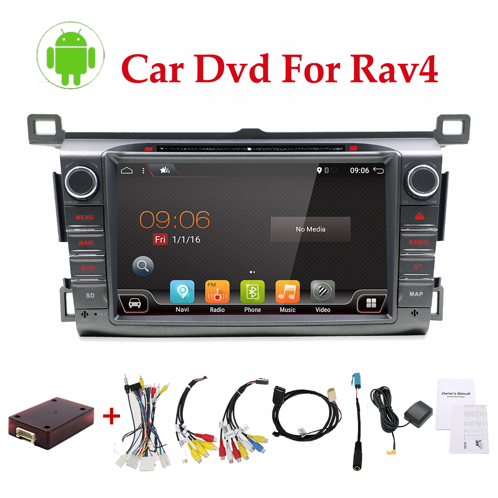 Octa core 8 inch Android 2 din car radio for 2013 2014 2015 RAV4 Radio navigation