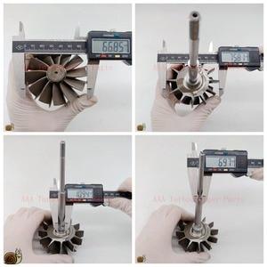 Image 5 - HX40/HX40W Turbo teile Turbine rad 67mm * 76mm 12blades, lieferant AAA Turbolader Teile