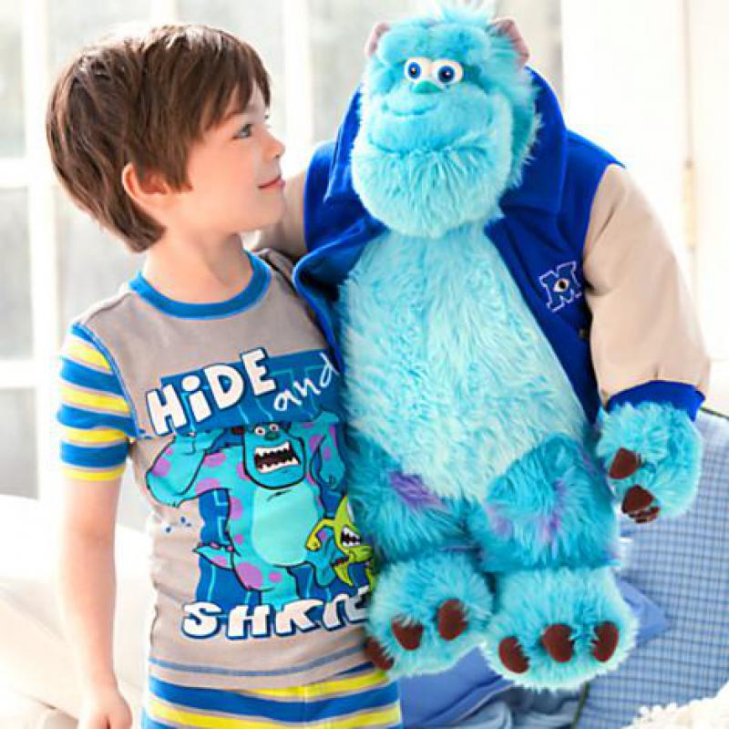 Big 1pcs 50cm Monsters University Sulley Sullivan Plush Toy Lovely Stuffed Animals Baby Kids soft Doll for Girls Children Gifts цена и фото