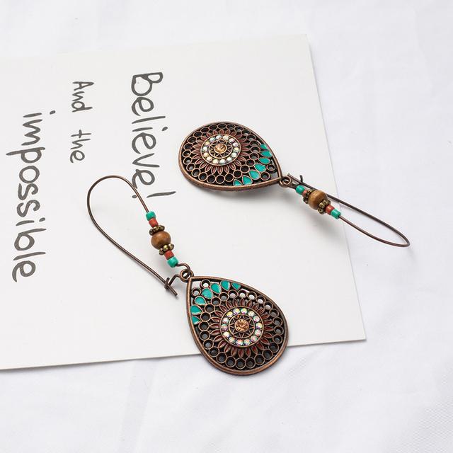 Indian Style Boho Drop Earrings