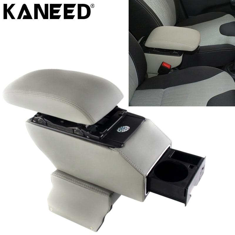Boîte d'accoudoir KANEED pour voiture Changan Suzuki Alto boîte d'accoudoir en cuir ABS avec trous et câbles USB à Charge rapide