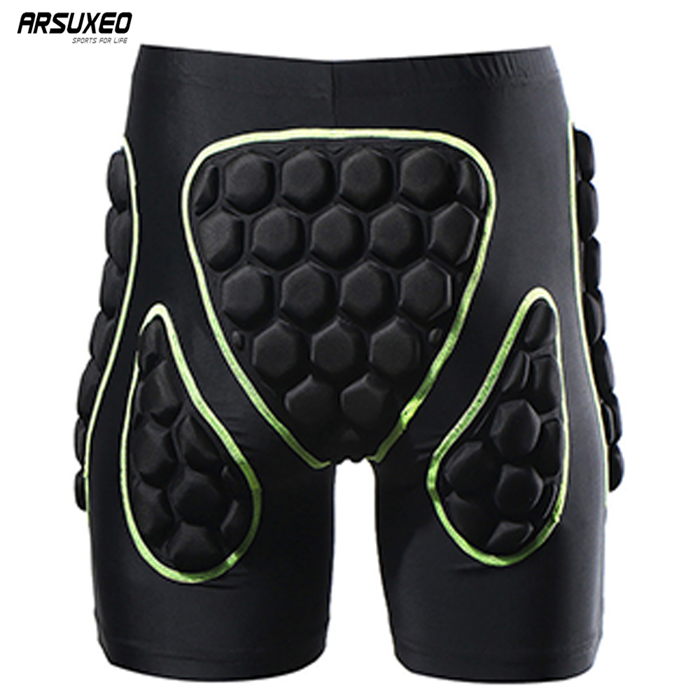 ARSUXEO Men's Outdoor Sports Cycling Shorts Downhill MTB Shorts Protective Padded shorts for Skiing Snowboarding 2015 arsuxeo mtb 1202