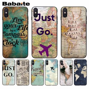 Babaite World Map Travel Just Go Hot Selling Skin Thin Cell Case For iphone 8 8plus and 7 7plus 6s 6s Plus 6 6plus 5s Cellphones image