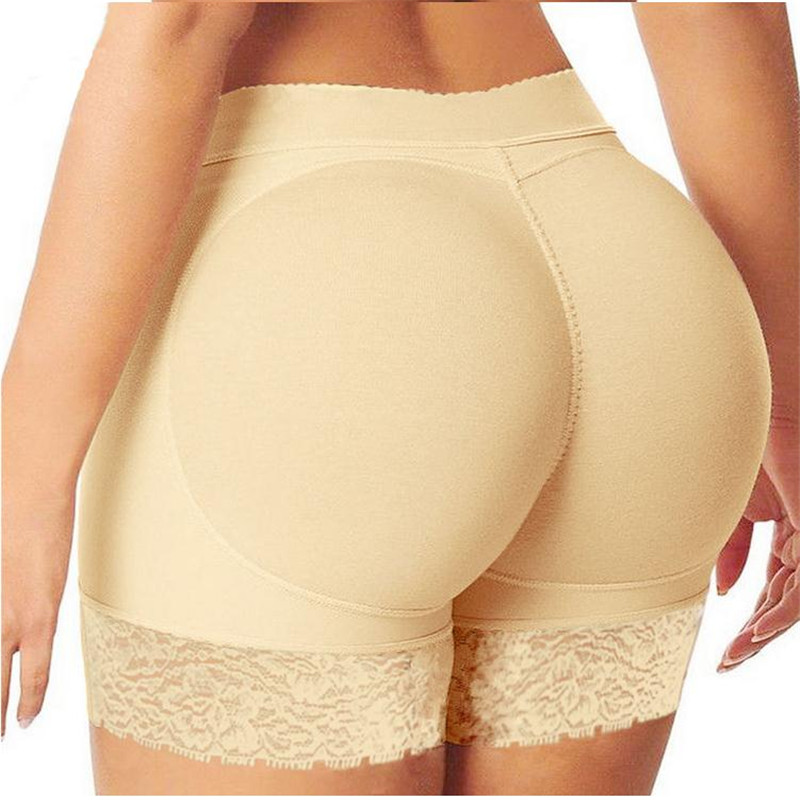 S-3XL Women Padded Butt Lifter Panty Body Shaper Fake Hip Shapwear Ladies Shorts Plus Size Shaper XXXL XXL XL
