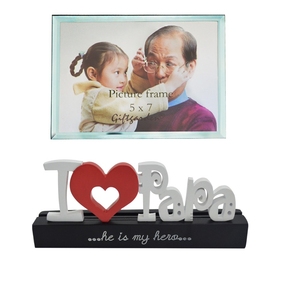5x7 Picture Frame I Love Papa Photo Frames Fathers Day Gift Kids ...