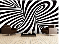 מותאם אישית 3d אמנות טפט , אופטי טור אמנות ציורי קיר מלון לדירה מגורים רקע קיר ויניל papel דה פארדה