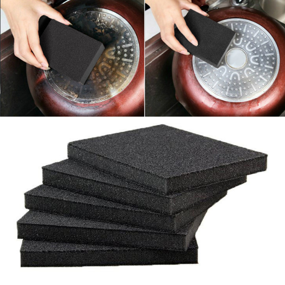 Nano Emery Sponge Eraser Rust Cleaning Brush Tool Kitchen Cleaning Scrubber for Kitchen Bathroom Cleaning Fast and Easier Magic Emery Sponge