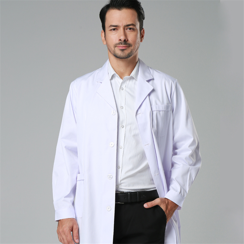7Color Men Medical Clothing Summer Short Sleeve White Lab Coat Spring Long Sleeve Work Wear Medical Clinical Uniforms Man