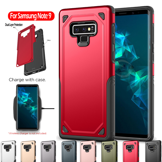b47eb9a25e3 JETJOY Hybrid Armor Impact Case for Samsung Galaxy Note 9 S8 S9 Plus S7  Edge Rugged Silicone Shockproof Phone Case Covers