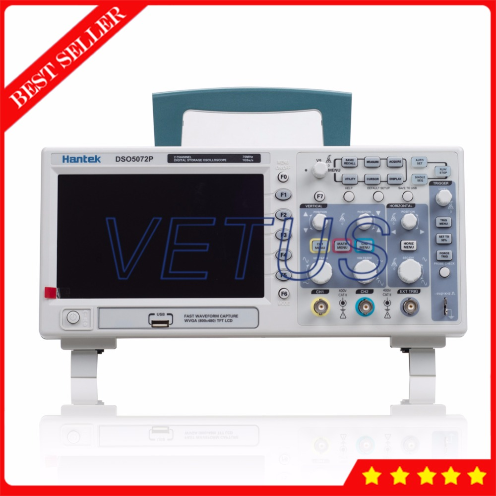 Hantek DSO5072P 70MHz 2Channels Scopemeter USB Digital Storage Oscilloscope Price with automatic measurements function