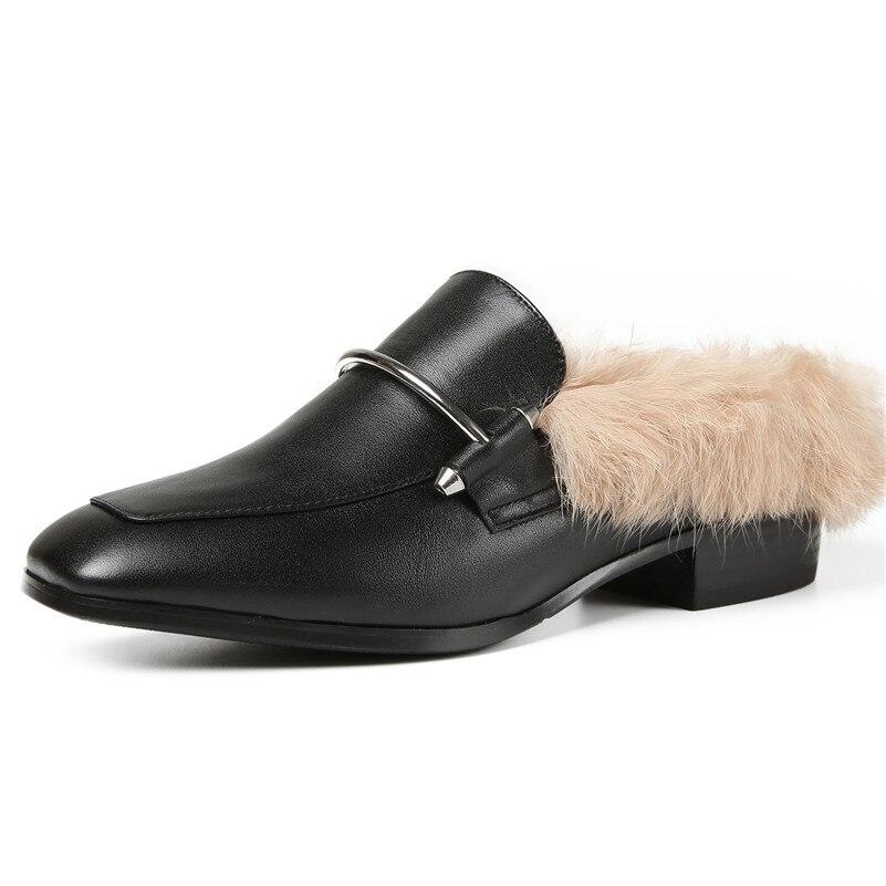 Femme Parti Marque Véritable Mariage En Femmes Nouvelles noir Fedonas De Sexy Escarpins Hauts Chaussures Pompes Mules Cuir Talons Fourrure Mode 1 x0Pfww5X