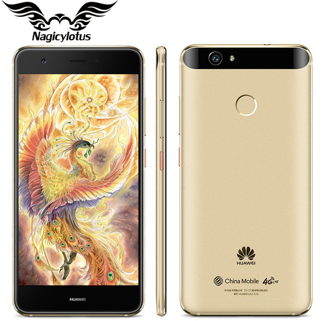 """Оригинал huawei nova 4g lte мобильный телефон 3 ГБ 32 ГБ msm8953 окта основные 2 ГГц 5.0 """"FHD 1920X1080px Dual SIM 12MP 3020 мАч Отпечатков Пальцев"""